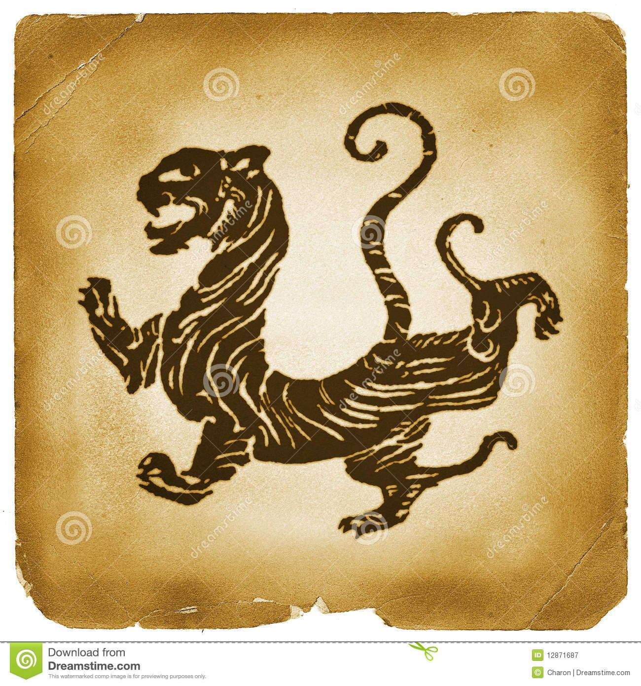 Ancient chinese tiger graphical symbol royalty free stock ancient chinese tiger graphical symbol royalty free stock biocorpaavc