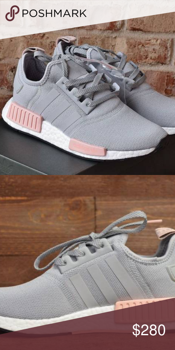 51d268c258f8f Adidas NMD Brand New w  Box. Never worn. Sold out online. Rare size.  Beautiful grey and blush pink! adidas Shoes Sneakers