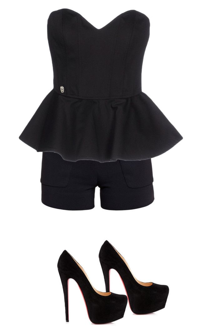 """""""Untitled #1013"""" by abbey-ceee ❤ liked on Polyvore featuring Balenciaga, Philipp Plein and Christian Louboutin"""