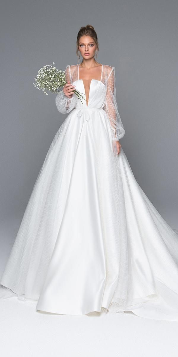24 Bridal Gowns With Sleeves Never Fails To Impress #wedding