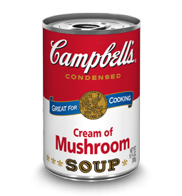 Campbell S Condensed Cream Of Mushroom Soup With Images Chicken Noodle Soup Can
