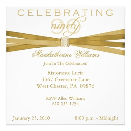 Elegant 90th Birthday Party Invitations Zazzle Com 90th Birthday