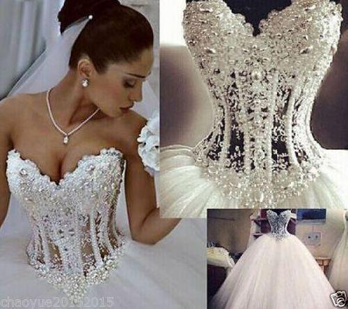 Sexy white/ivory Wedding dress Bridal Gown custom size 4-6-8-10-12 ...