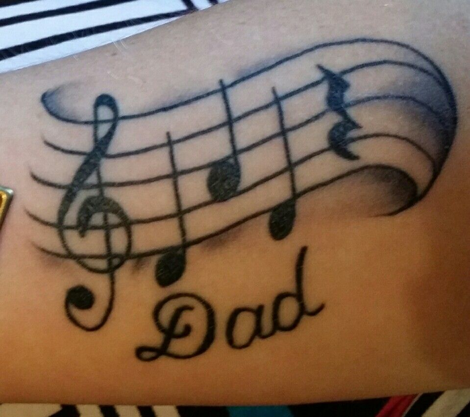 memorial tattoo for my dad the notes d a d then a rest note. Black Bedroom Furniture Sets. Home Design Ideas