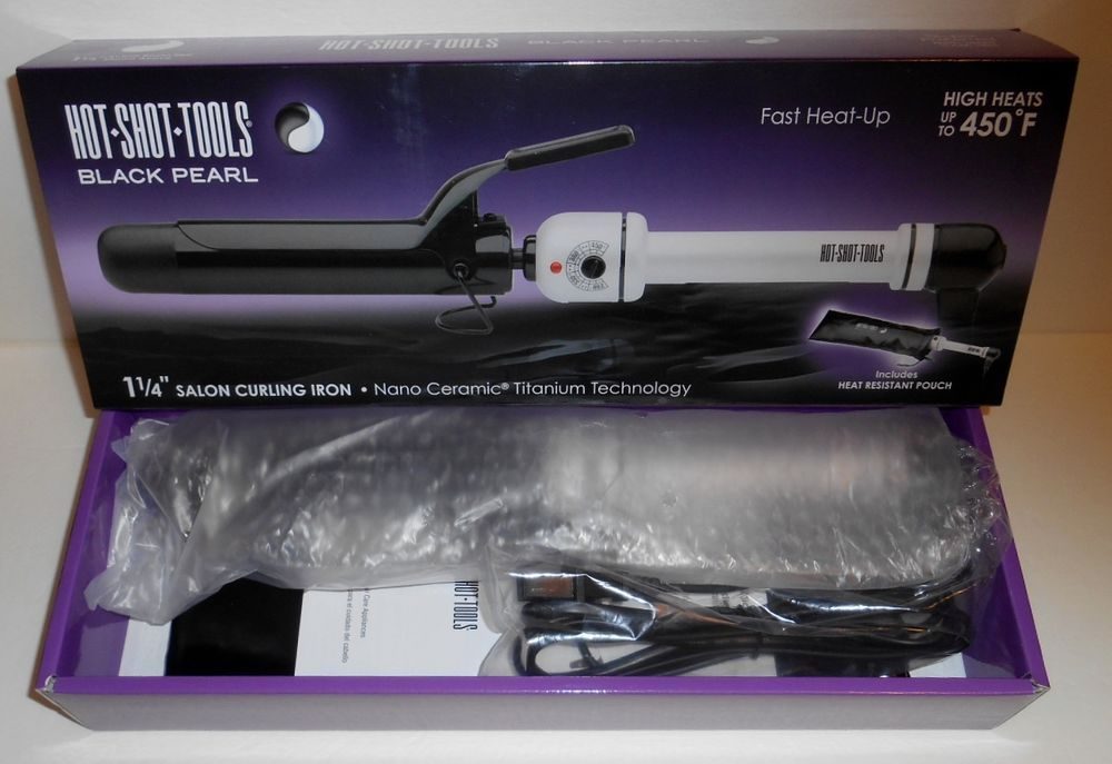 Hot Shot Tools 1 1 4 Salon Curling Iron Nano Ceramic Titanium 510401 Nib Helenoftroyhotshottools With Images Ceramic Curling Irons Hot Shots Ouch Pouch