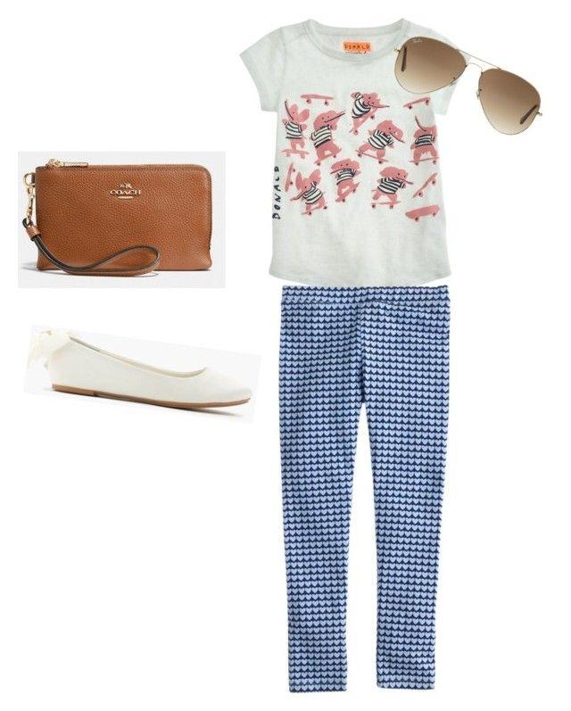 """Untitled #95"" by mary0246 ❤ liked on Polyvore featuring Coach, J.Crew and Ray-Ban"