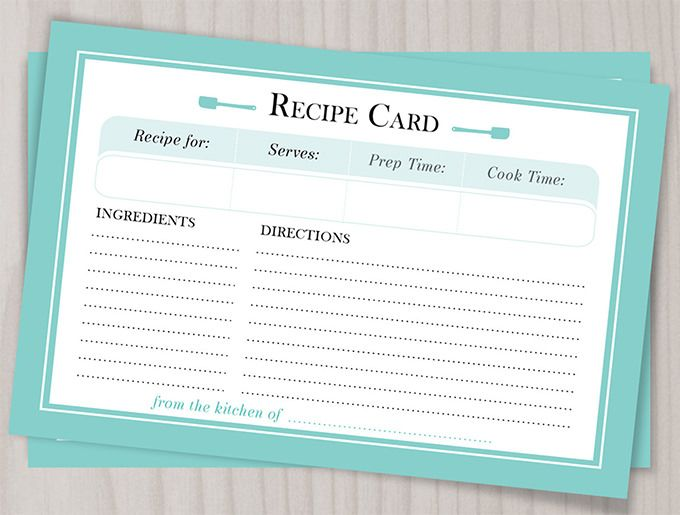 word templates for recipes