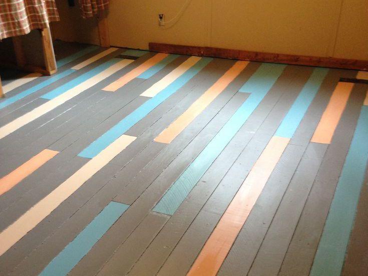 Holzfußboden Farbig Streichen ~ 55 kreative streichen ideen für holzbodenbelag fußböden