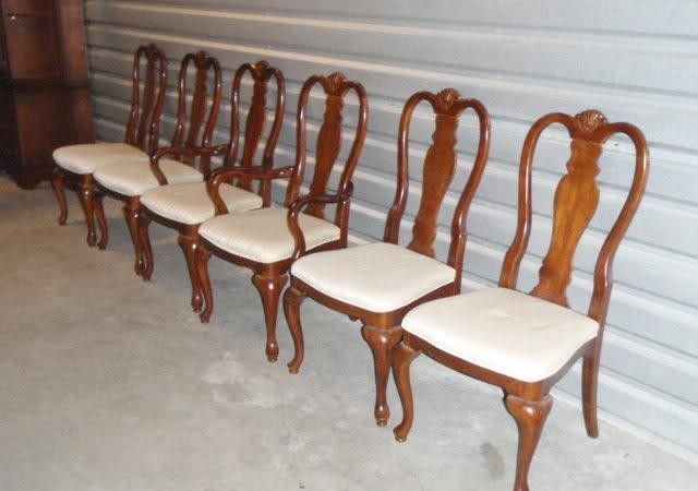 Chairs Dining Room Bernhardt Traditional Cherry Queen Anne Can