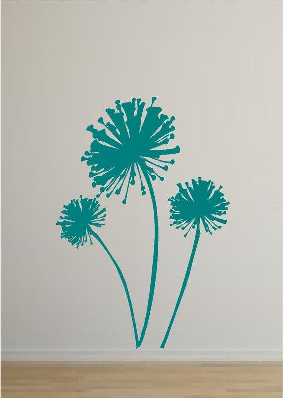 Dandelions Silhouette Vinyl Wall Decal By YourVinylAnswer - How to make vinyl wall decals with silhouette