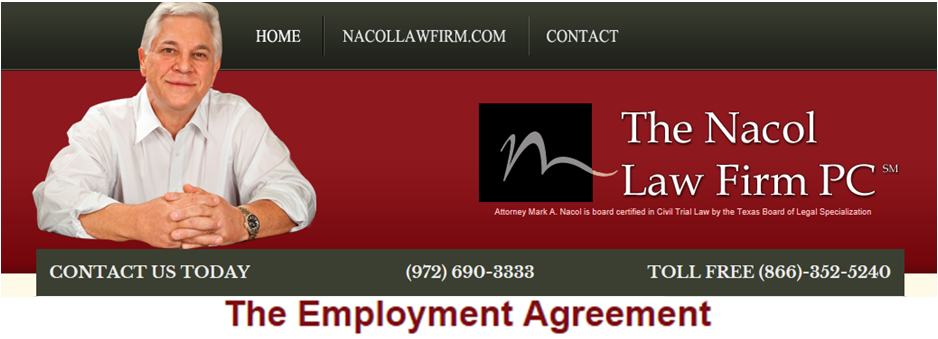 The Employment Agreement HttpWwwNacollawfirmblogCom