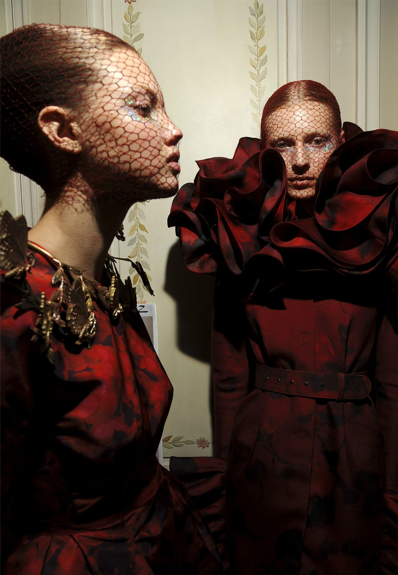 Lindsey and Julia at Giambattista Valli Haute Couture F/W 2012/13 Backstage