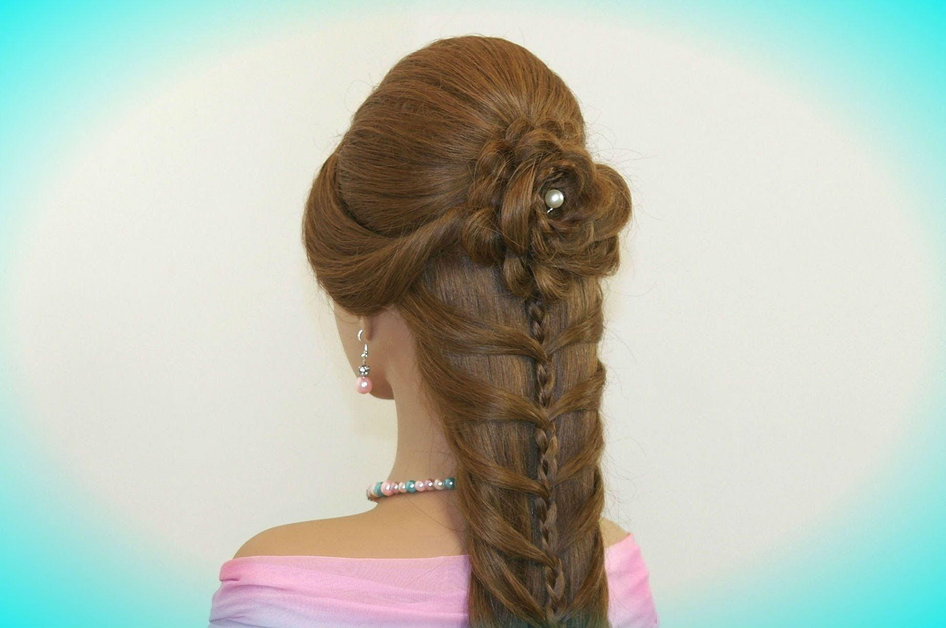 cute prom braided hairstyles for long hair. hair made rose
