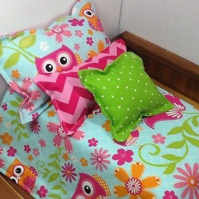 "Doll Bedding, Handmade For 18"" Dolls, Cotton"
