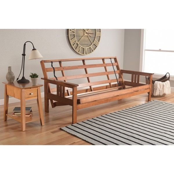 Somette Beli Mont Multiflex Honey Oak Fullsize Wood Futon Frame