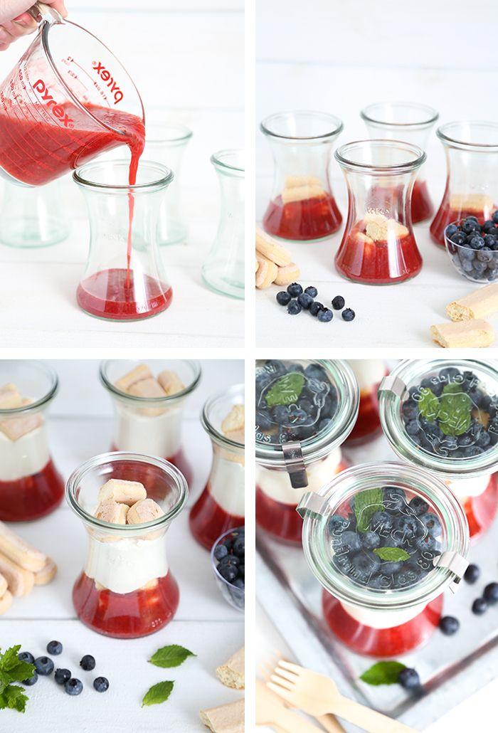 Quick Berry Tiramisu in a Jar