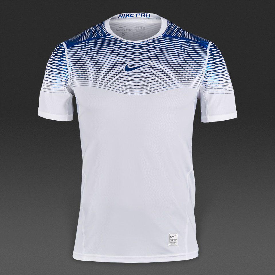 e9e2708a9c93 Camiseta Nike Hypercool Max ajustada-Blanco Azul metalizado