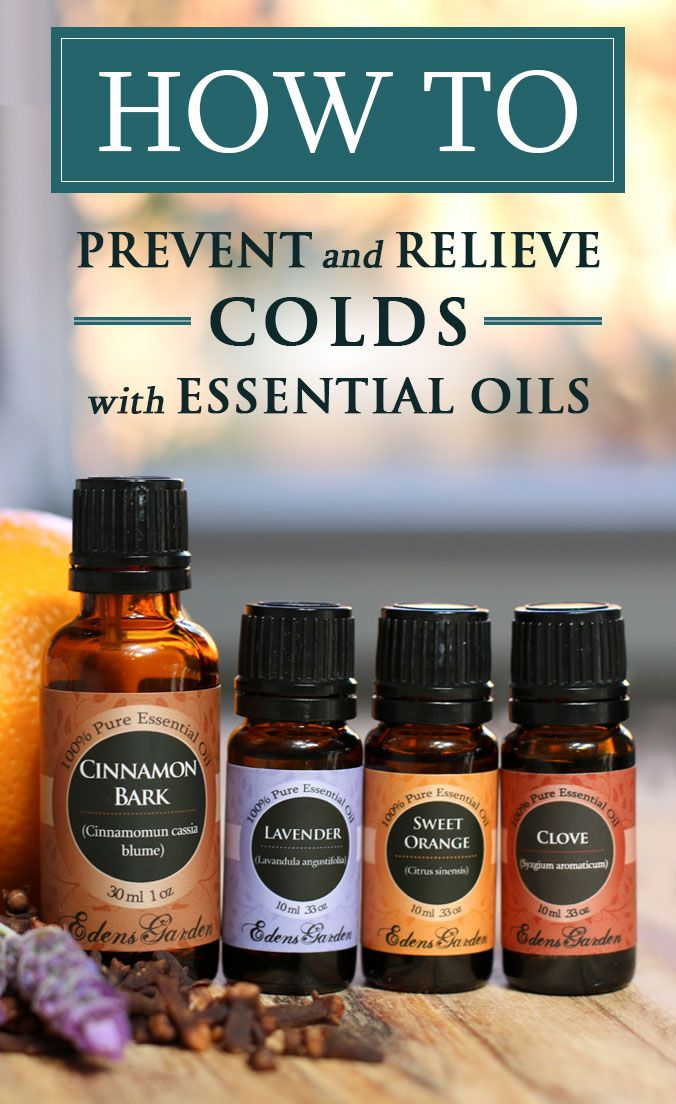 How To Use Essential Oils To Effectively Prevent And Relieve Colds