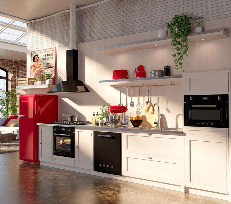 Kitchen Designs Victoria: Retro Line Kitchen In Red, Black And Cream. 50s Style And
