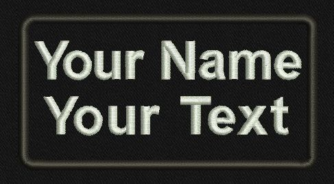 2 Line, Personalized Custom Name Patch /Tactical/Military