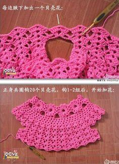 f7716d243 Patron para hacer un vestido a crochet para niña03   mimis ...
