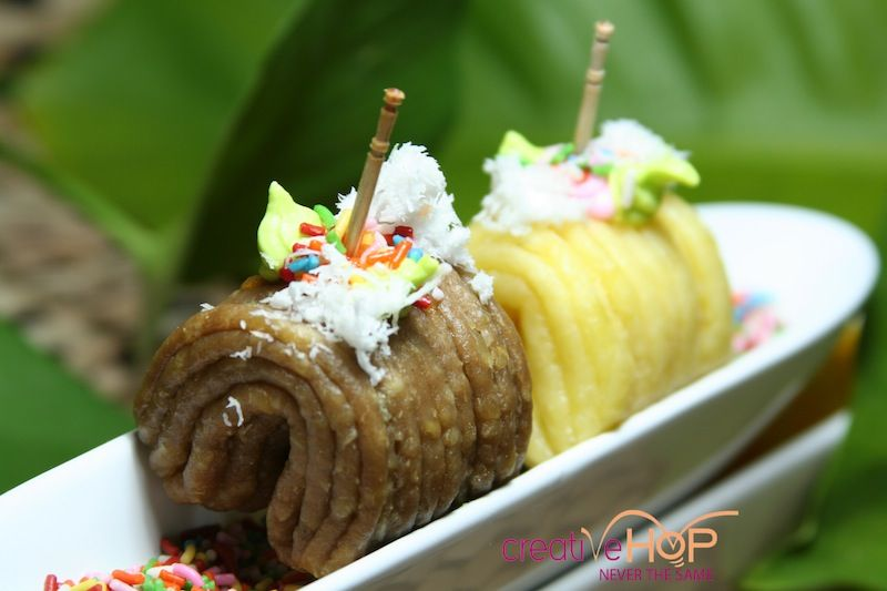 Getuk Lindri, Indonesian traditional snack made from cassava.
