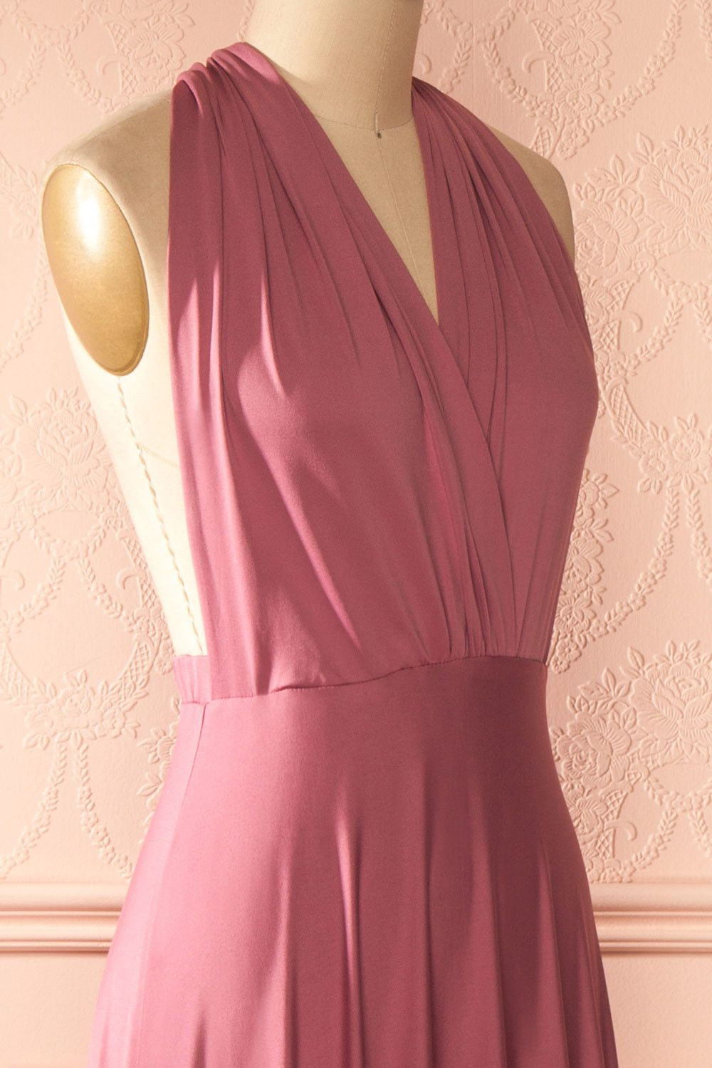 Elatia rose grand tour robe and dusty pink