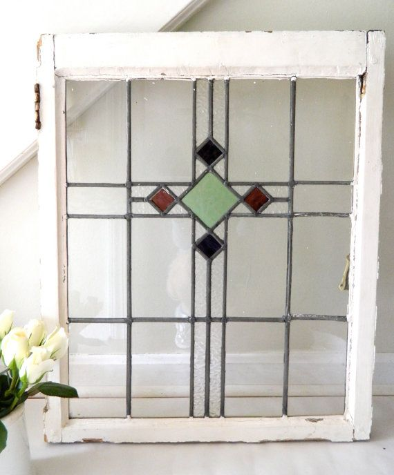 Stained Glass For Kitchen Cabinets: Vintage Stained Glass Window Cabinet Door