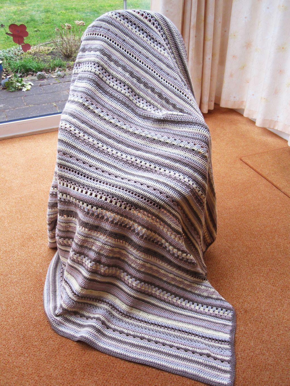Crochet Along Babydecke größer häkeln | Deckchen, Baumwolle und ...