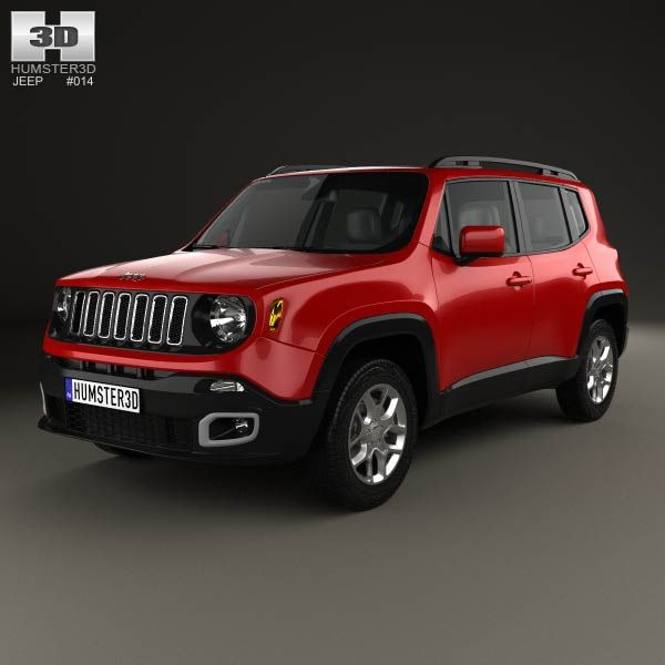 3d Model Of Jeep Renegade Latitude 2015 With Images Jeep Renegade