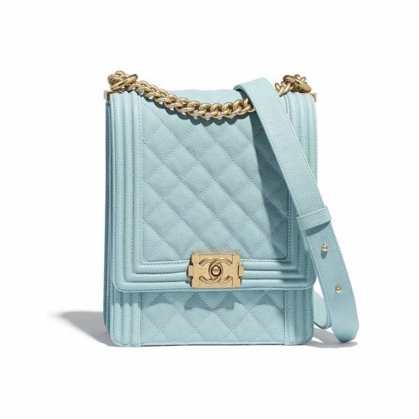9d214c6cee7d Chanel Light Blue Boy North/South Flap Bag | Fashion Clutches in ...