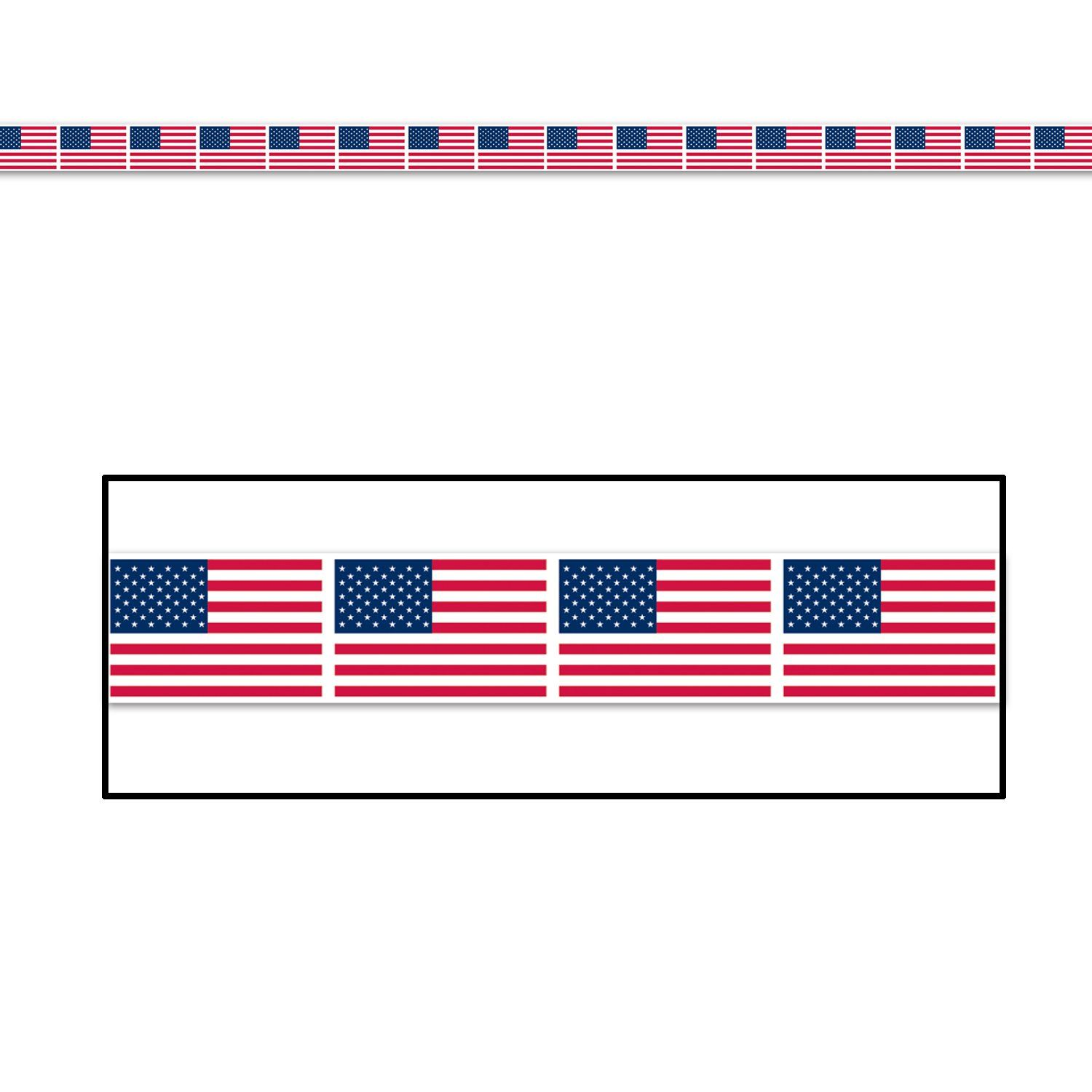 Patriotic Party American Flag Party Tape Case Of 12 American Flag Party Patriotic Party Red Party Decorations