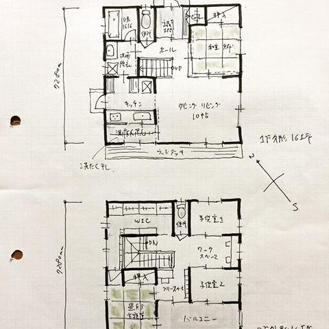 32坪の間取り 1階に和室がある間取り 2階寝室も和室となっております 畳があると寝ころべる 間取り 間取り集 間取り力 間取り図 間取り萌え 間取りフェチ 間取り図が好き 32坪の間取り 間取り検討中 間取り図フェチ 間取り大好き 間取り考