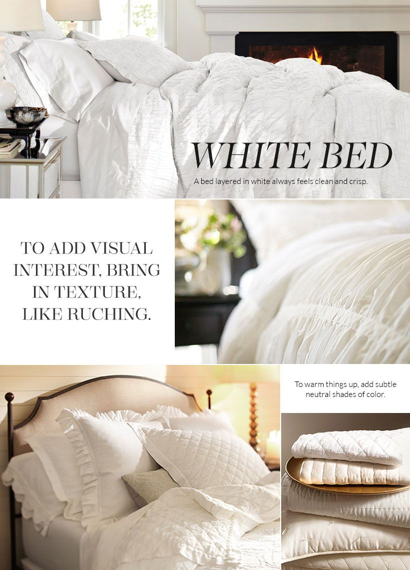 All White Bedding Pottery Barn White Bedding Home Bedroom