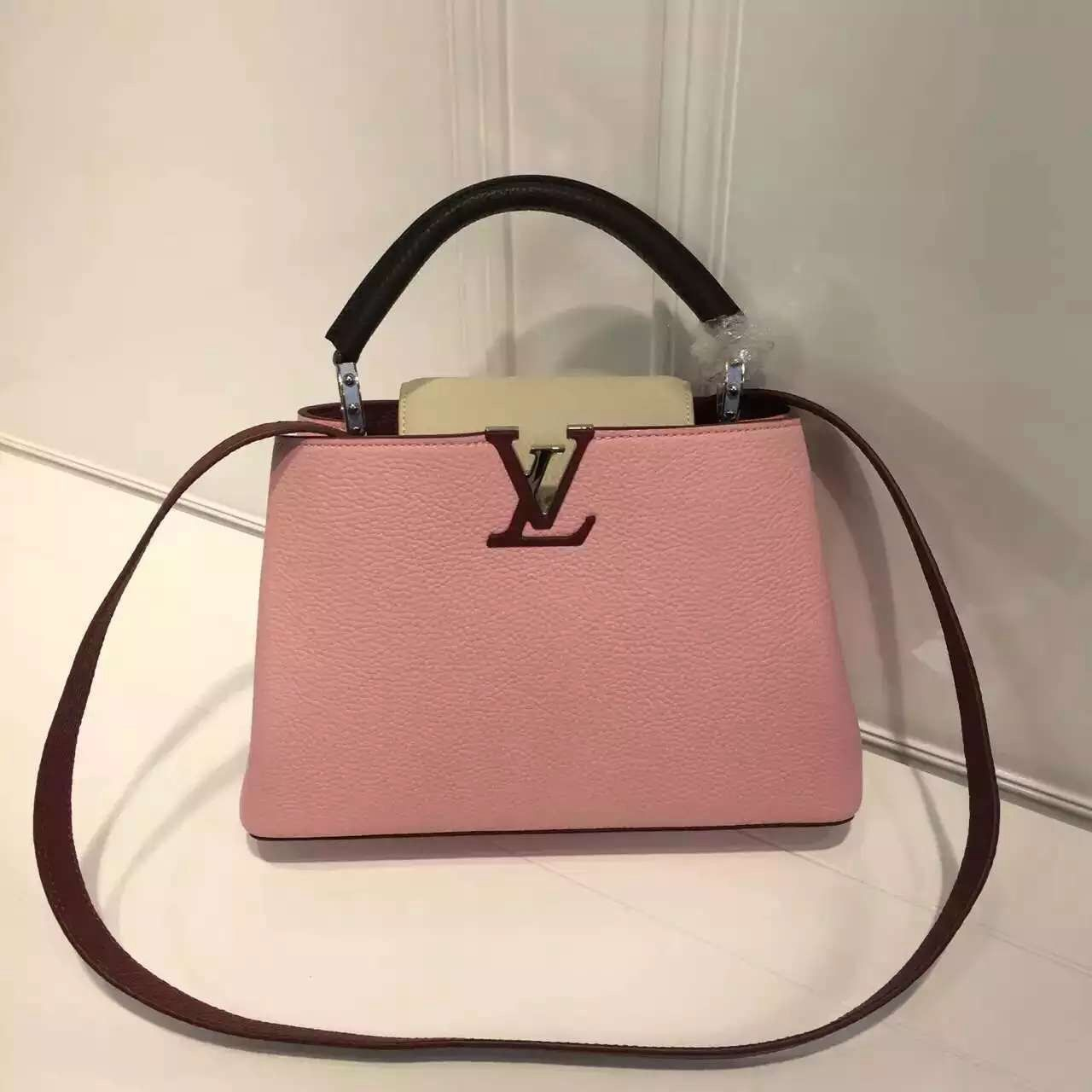 Louis Vuitton Grained Calfskin Multicolor Capucines BB Bag Capucines  Designer Bags For Less, Bag Sale f95a12abdb