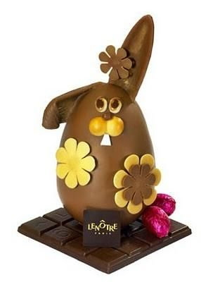 Lenôtre chocolate Easter bunny.
