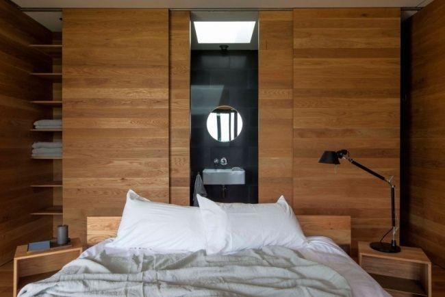 kleines schlafzimmer holz schiebetüren kleiderschrank kleines - schiebetüren für badezimmer