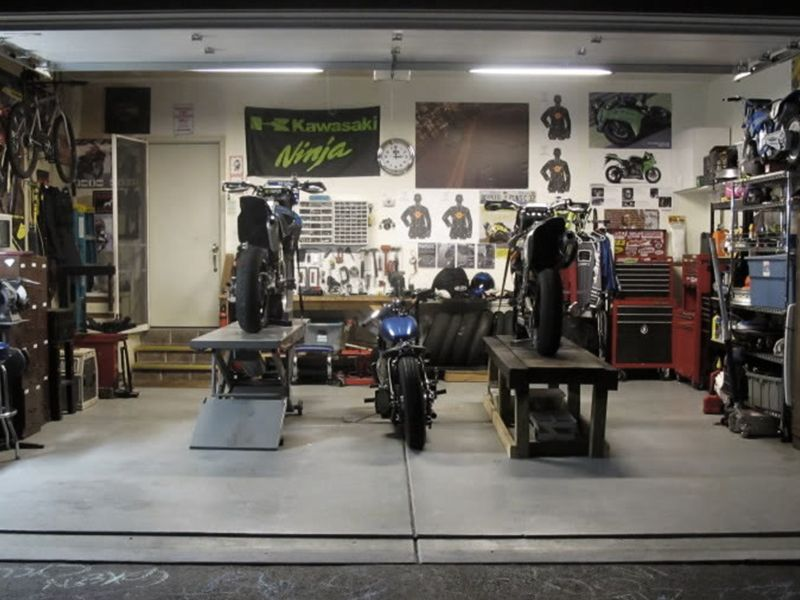 Man Cave Clothing Store : Clean garage motorcycle garages man caves pinterest