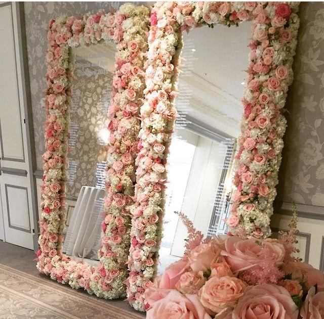 Flower Mirrors Flower Mirror Makeup Room Diy Room Diy