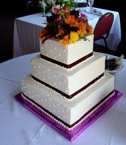 Traditional Square Wedding Cakes
