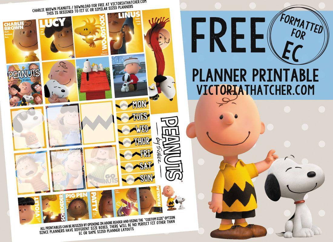 FREE Charlie Brown | agenda prints | Pinterest