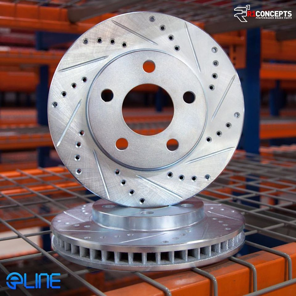 Eline series drilled and slotted brake rotors stoppingtheworld
