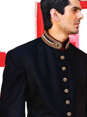 2e4cdb10c0 black sherwani for wedding 2014 - Google Search | Bride Groom ...