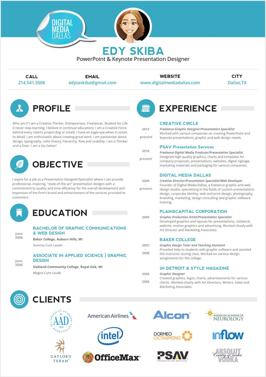 creativeresumepage1b Medical assistant resume