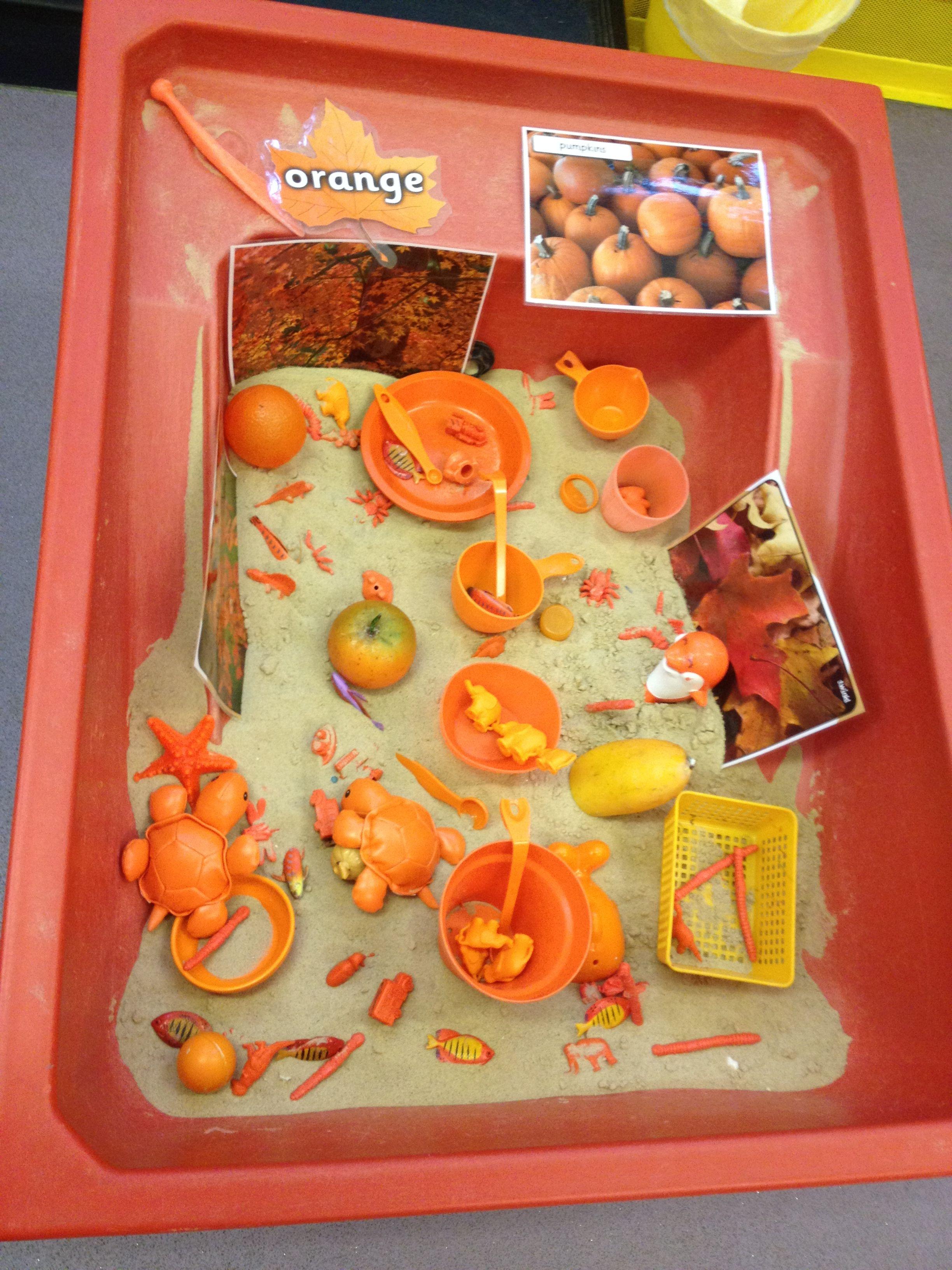 Orange autumn treasures | Class activities, Kindergarten ...