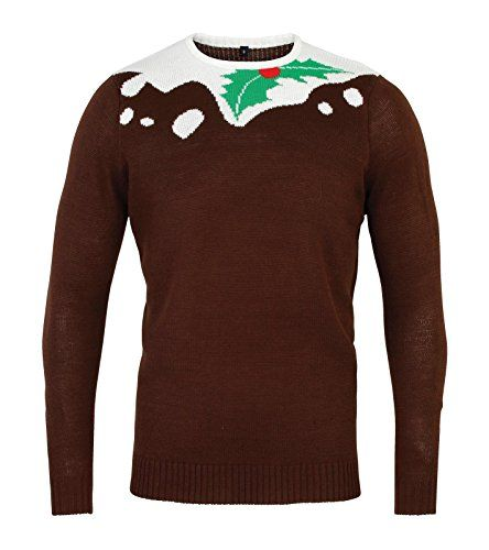 UNISEX CHRISTMAS SHOP CHRISTMAS PUDDING DESIGN JUMPER  £24.19  Warm and cosy Christmas jumper Christmas pudding design Novelty festive design