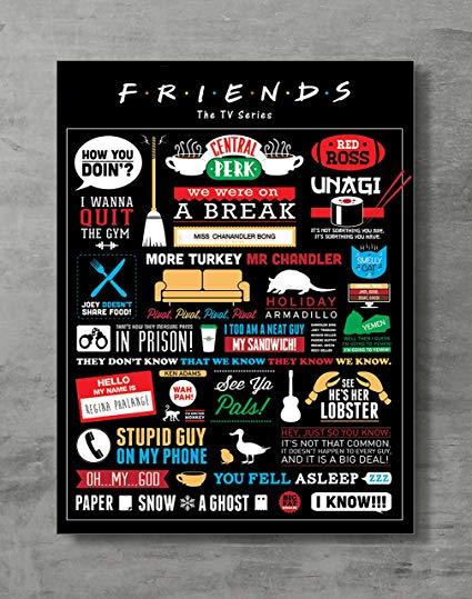 Amazon Com Friends Poster Friends Tv Show Canvas Print Friends Merch Wall Art Posters Print Standard Siz Friends Tv Show Gifts Friends Tv Show Friends Poster