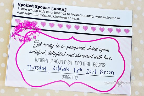 Spoil Your Spouse Date Night