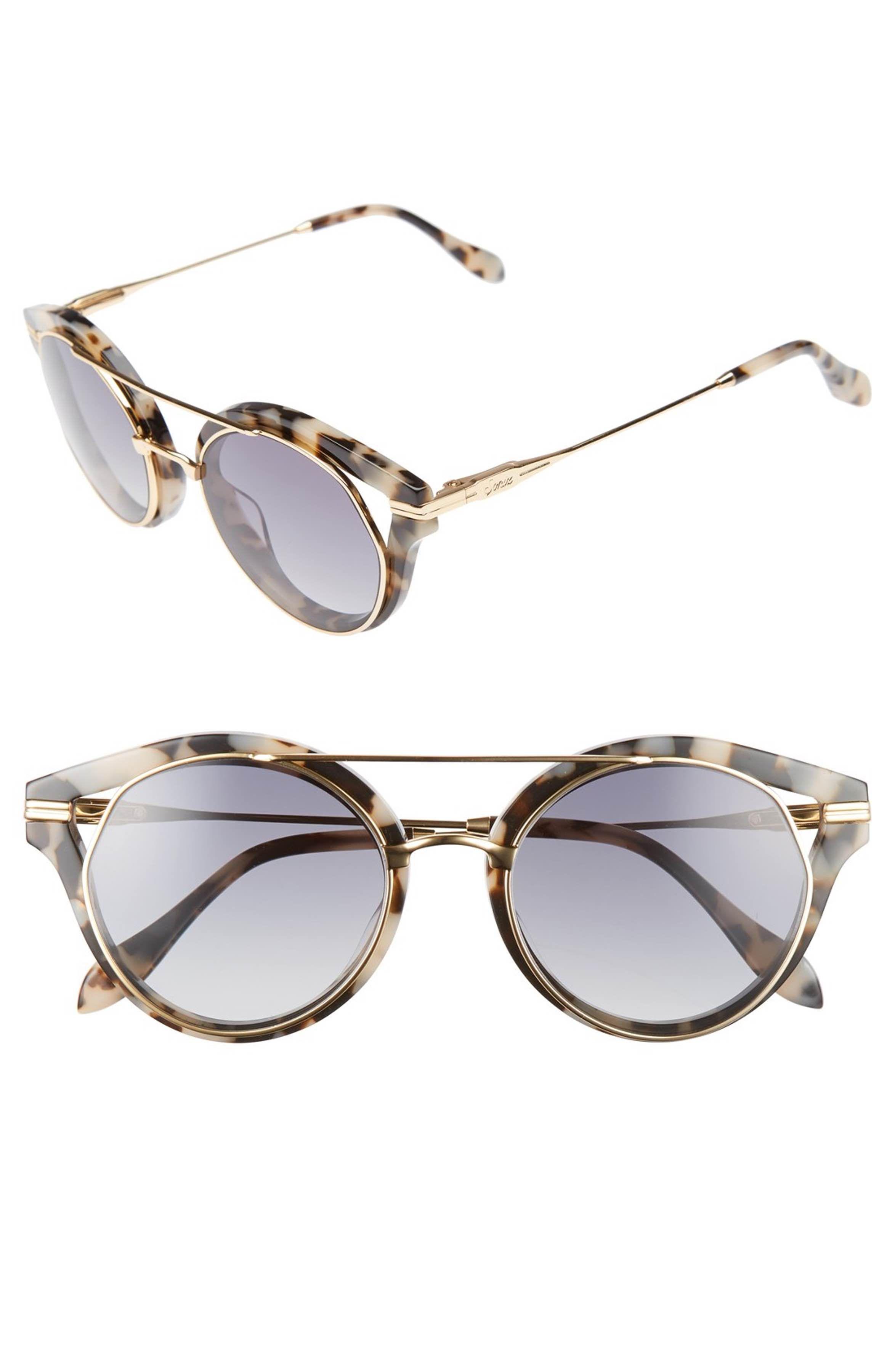 7c750b5ce3c Main Image - Sonix Preston 51mm Gradient Round Sunglasses