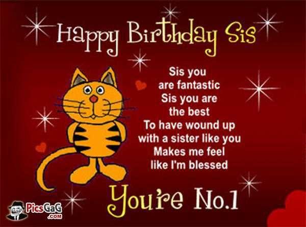 Happy Birthday Sister Poems Funny My Birthday Happy Birthday
